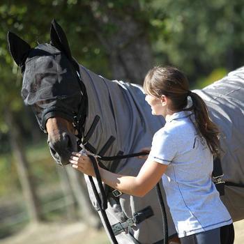 Insektenschutz-Decke Anti-Fly Fliegenschutzdecke Pony/Pferd beige