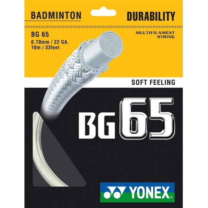 CORDAJE DE BÁDMINTON YONEX BG65 BLANCO