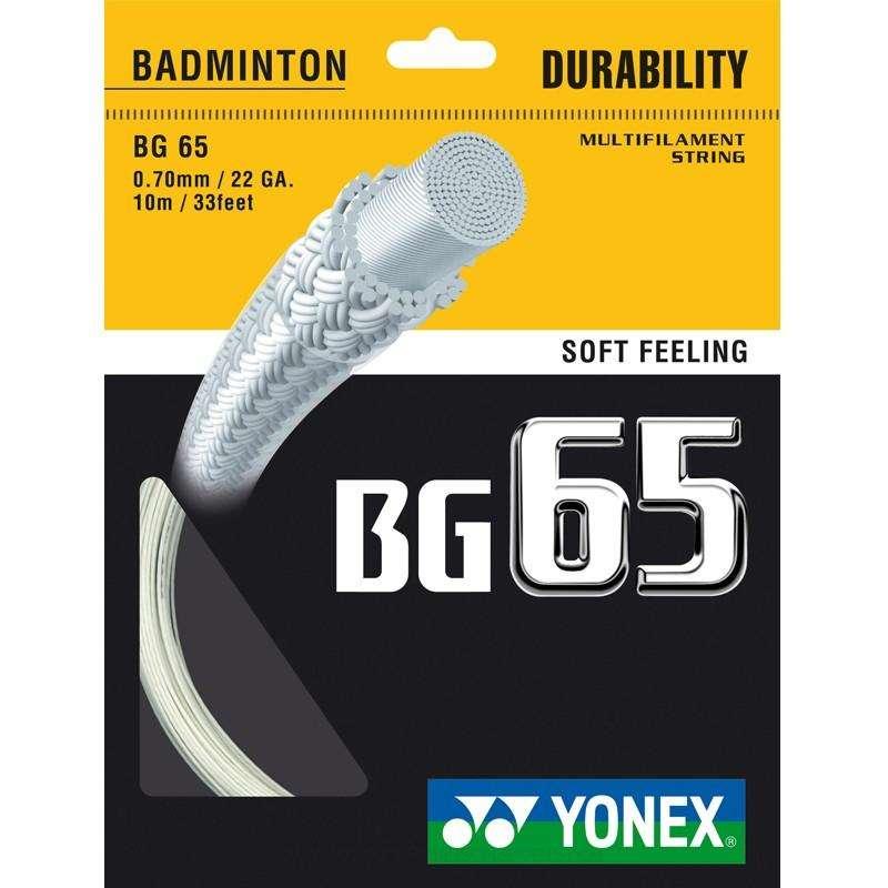 NACIĄGI DO BADMINTONA Badminton - Naciąg BG 65 biały BOYAUDERIE DE L'EST - Sprzęt do badmintona
