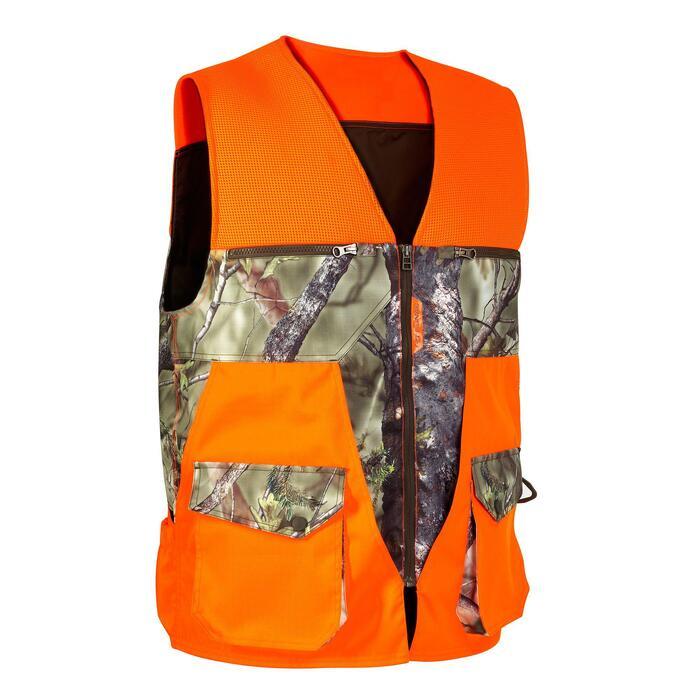 Vest Renfort 500 voor de jacht fluo camo - 801065