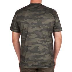 Camiseta de caza de manga corta transpirable 100 camuflaje caqui