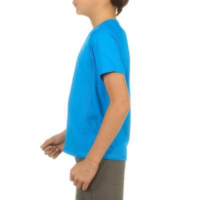 تيشيرت للأولاد 100 للتنزه لمسافات طويلة - لون أزرق.