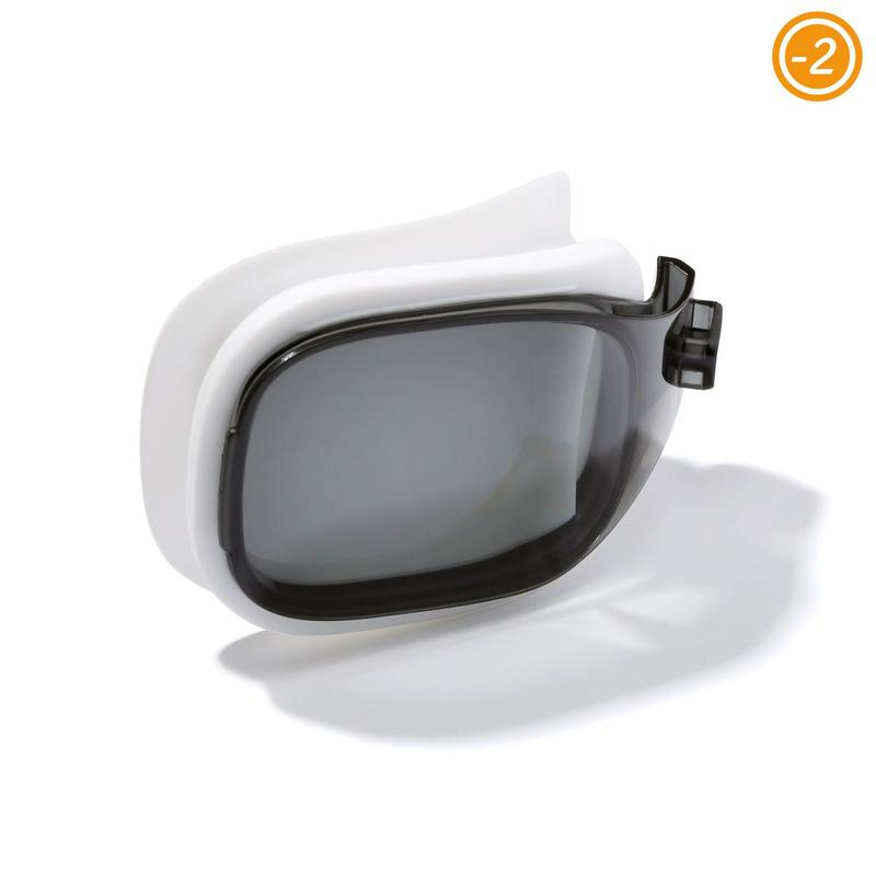 LENS FOR CORRECTIVE SWIMMING GOGGLES SELFIT SMOKED SIZE L / -2.00