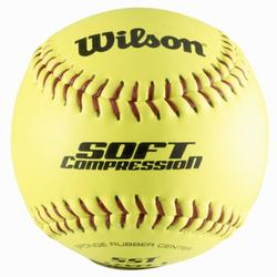 Honkbal bal Soft Compression geel