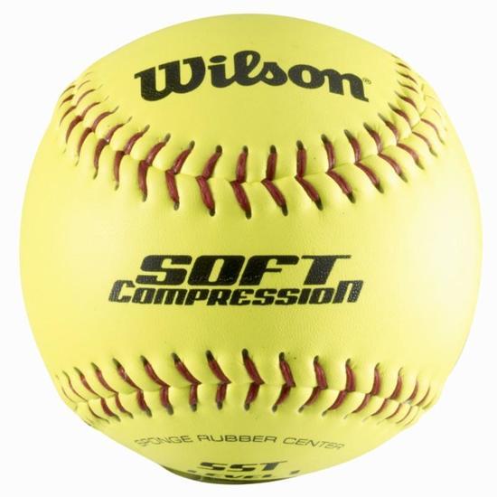 Honkbal bal Soft Compression geel - 802426