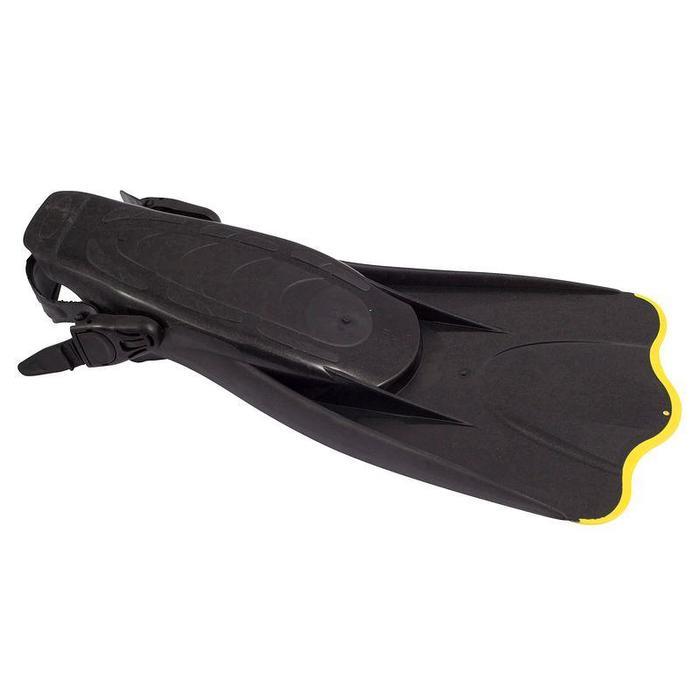 Palmes de snorkeling Palau SAF noires et jaunes - 802614