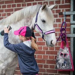 Bolsa de limpieza de equitación algodón ASTRO rosa