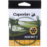 Avançon pêche carnassier RESIFIGHT 7 2 BOUCLES 26 LB x3