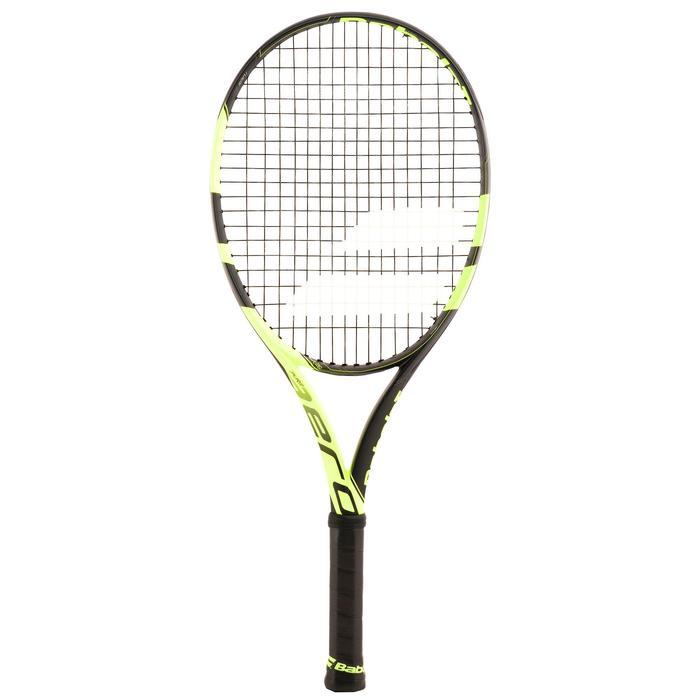 Tennisschläger Pure Aero 25'' besaitet Kinder schwarz/gelb