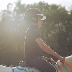 Jongenspolo Horse met korte mouwen ruitersport - 803156