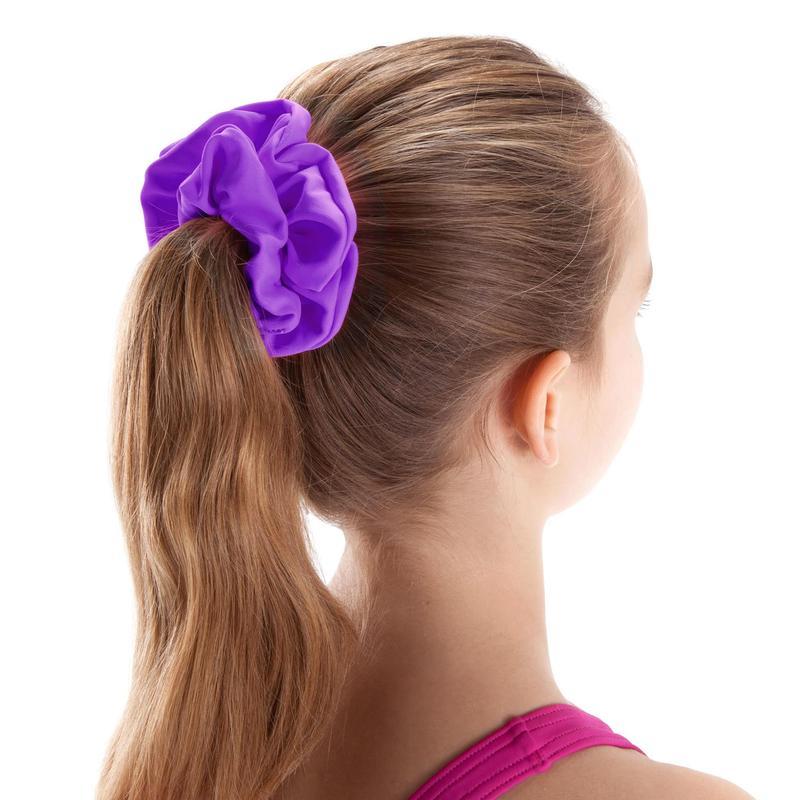 Girls' Swimming Hair Scrunchie - Purple