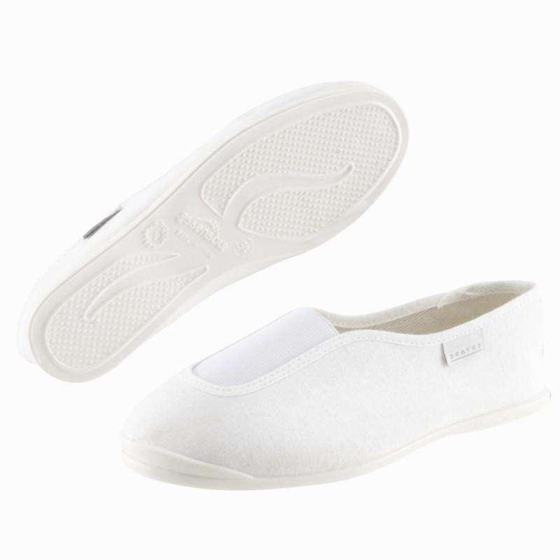 ARTISTIC GYMNASTICS SHOES Gymnastics - Rhythm 300 Pump Shoes White Adult DOMYOS - Gymnastics