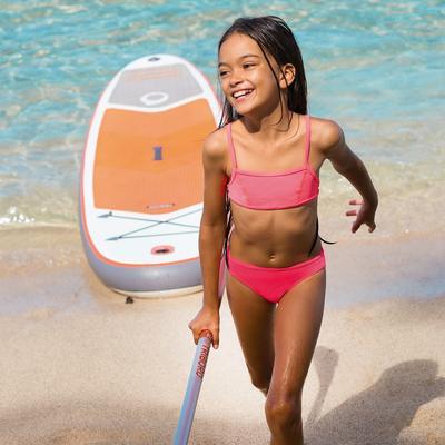 Bikini niña con top grana