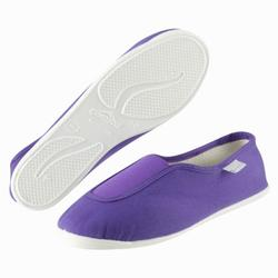 Zapatillas de gimnasia en el colegio niños violeta Rythm 300