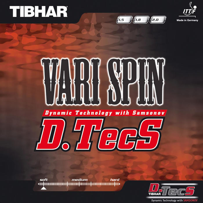 Tafeltennis rubbers Vari Spin D.TECS - 803590