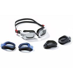 Zwembril Selfit Pack 3 in 1 maat S wit/zwart