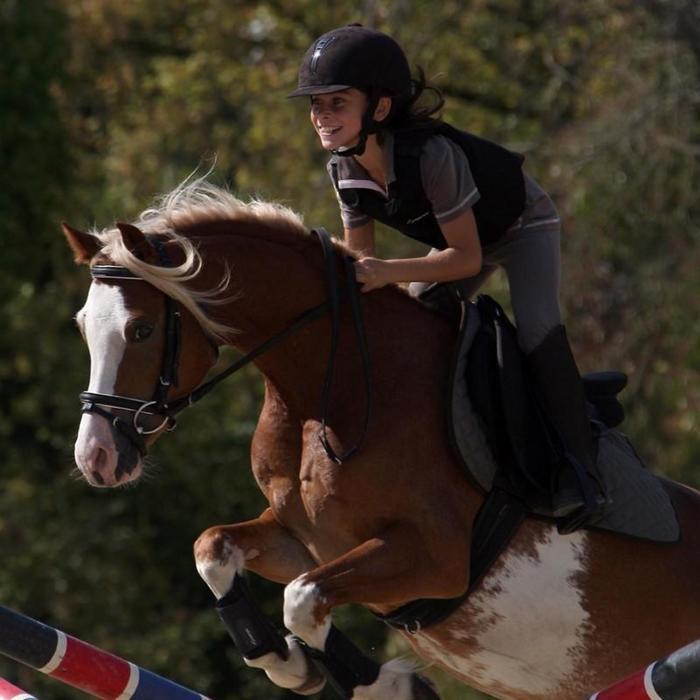 2 guêtres fermées équitation poney et cheval SOFT noir