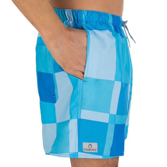 Hendaia men's short swimming shorts - Cube green - 804527