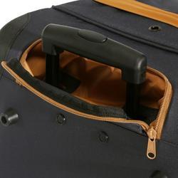 Tas op wieltjes voor ruitersport materiaal trolley 80 l grijs en camel