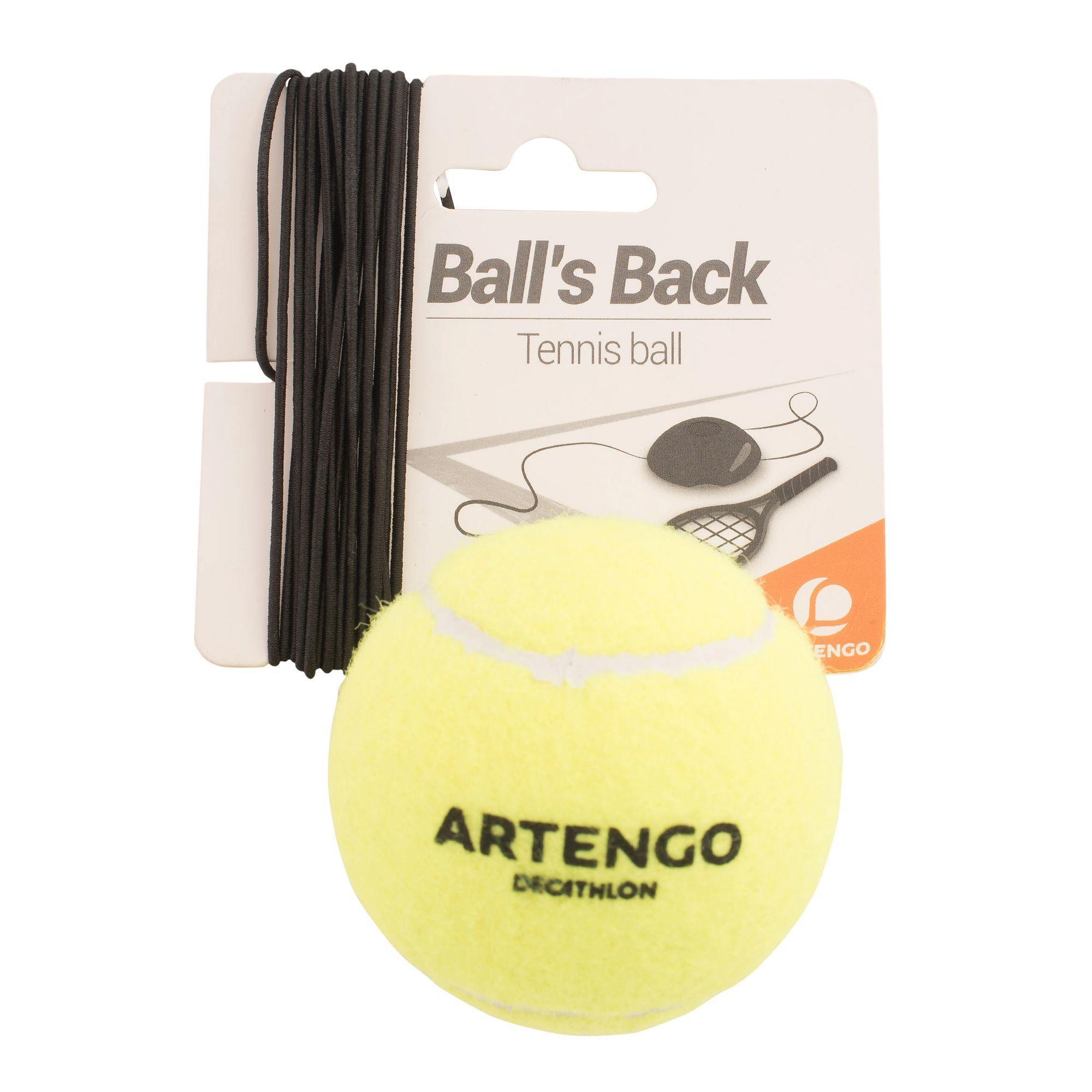 Artengo Tennisbal en elastiek voor tennistrainer Ball is Back