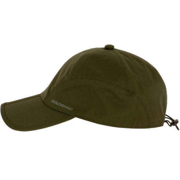 Casquette chasse imperméable pliante vert