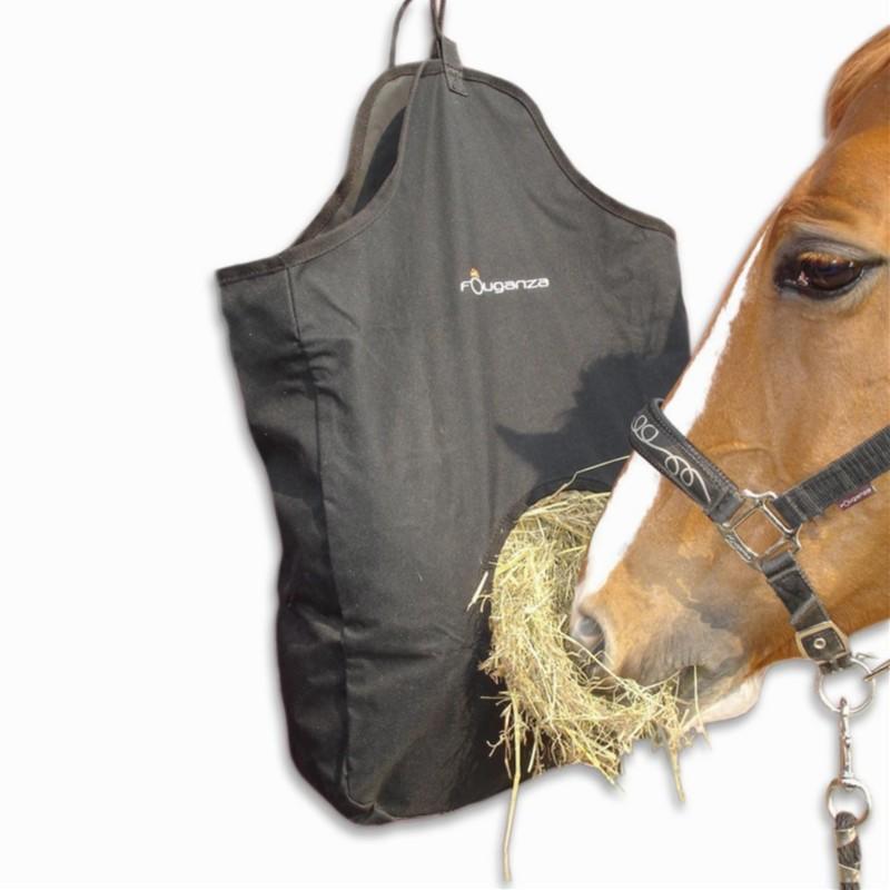 Sac à foin équitation noir
