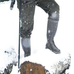 Fleece laarssokken voor de jacht Sibir 300 bruin