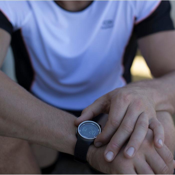 Montre chronomètre de course à pied homme W900 noire reverse - 806009