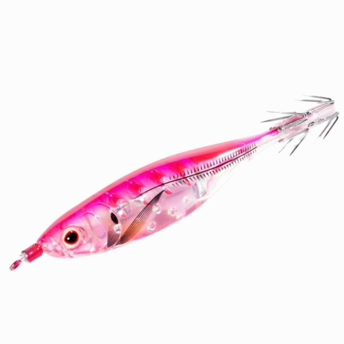 Anzuelo múltiple Crystal ultra 9 rosa pesca de sepias/calamares