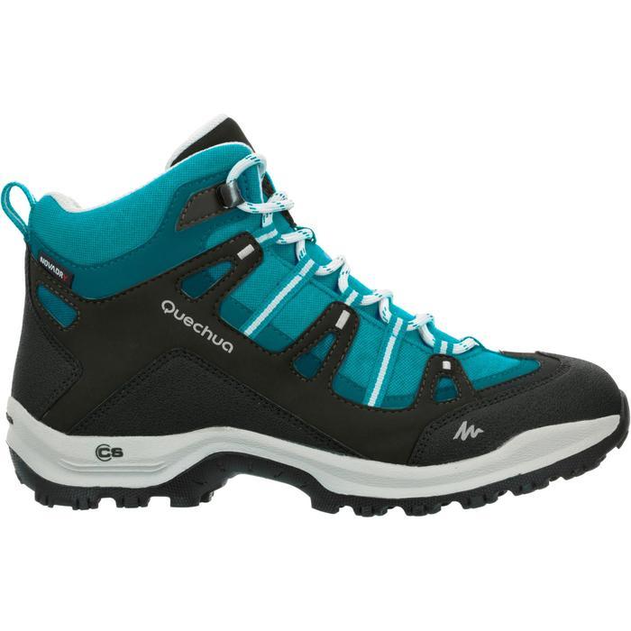 Chaussures de randonnée Nature femme Arpenaz 100 mid imper bleu