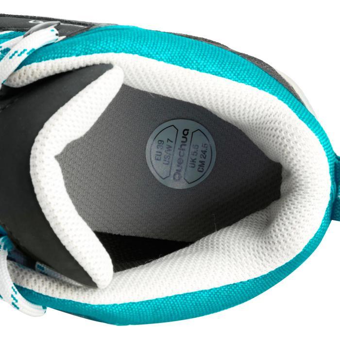 Wandelschoenen voor dames Arpenaz 100 Mid waterdicht blauw