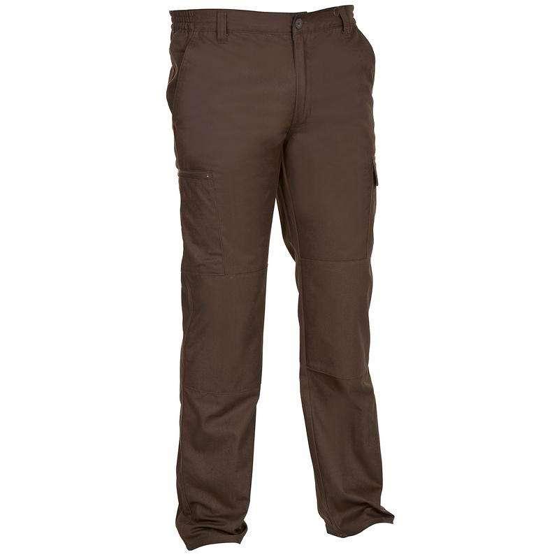 PANTALONI E CAMICIE CACCIA Caccia - Pantaloni Caccia STEPPE 300 Marrone SOLOGNAC - Abbigliamento caccia