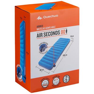 Colchón inflable de Camping ARPENAZ AIR SECONDS 80 | 1 persona