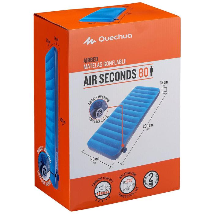 Matelas gonflable de camping AIR SECONDS 80 | 1 pers. - 806558