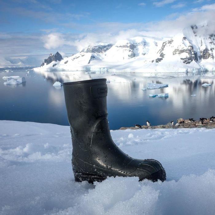 Jagd-Gummistiefel Tundra 500 grün Jagdstiefel mit herausnehmbarem Futter