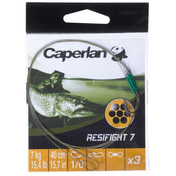 Avançon pêche carnassier RESIFIGHT 7 hameçon simple 12KG x3 - 806654