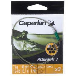 Terminal hilo de acero pesca depredadores RESIFIGHT 7 anzuelos simple 7 KG