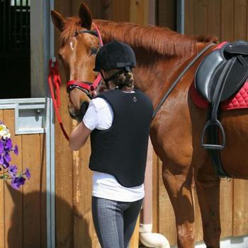 Cabestro equitación poni y caballo SCHOOLING rojo