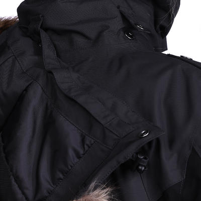 Paddock Women's Warm Horse Riding Parka - Dark Grey