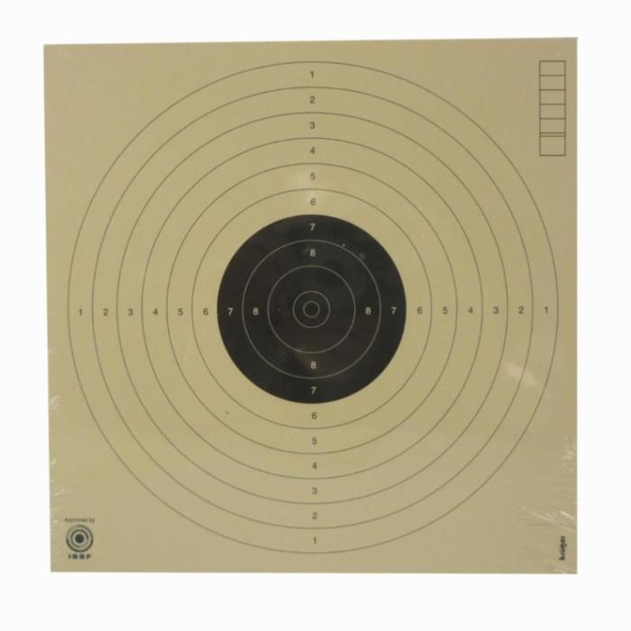Zielscheibe Luftpistole auf 10 m 17×17cm