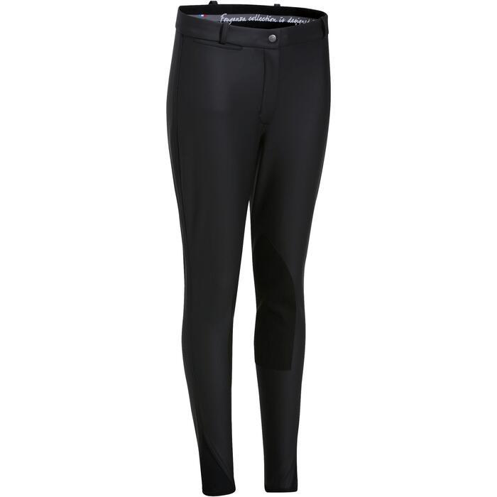 Pantalon imperméable chaud et respirant équitation femme KIPWARM - 807269
