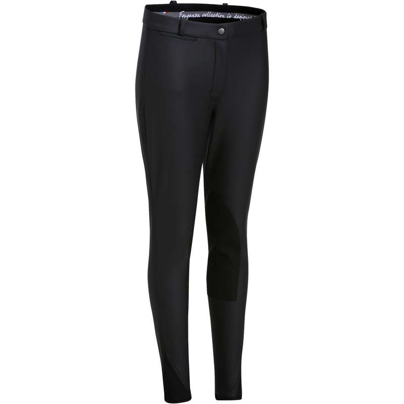 WOMAN COLD WEATHER RIDING WEAR - Kipwarm Women's Jodhpurs Black FOUGANZA