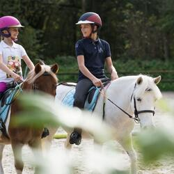 Jongenspolo Horse met korte mouwen ruitersport - 807660