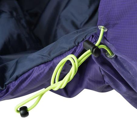 Forclaz 15° Light Hiking Sleeping Bag (Right Zip) - Purple