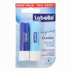 Bálsamo lápiz de labios Labello Classic + Hydro Care