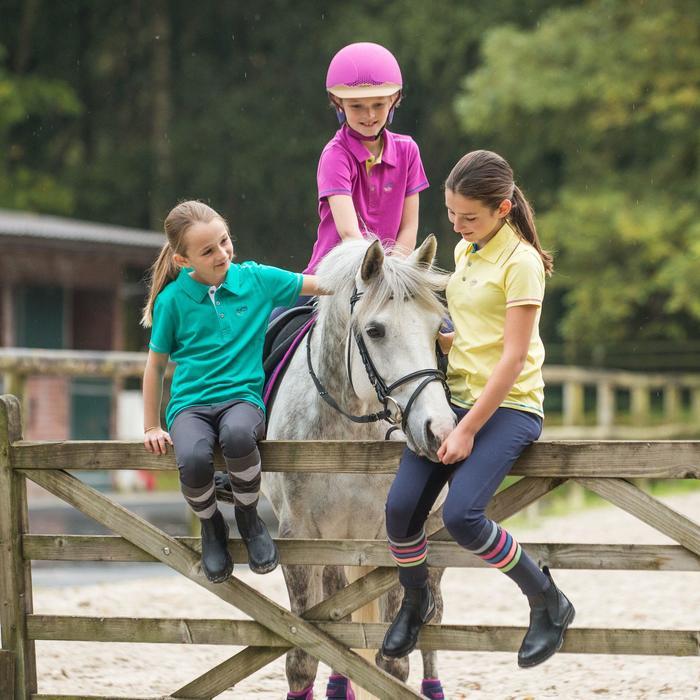 Polo manga corta equitación niño HORSE RIDING ADO verde