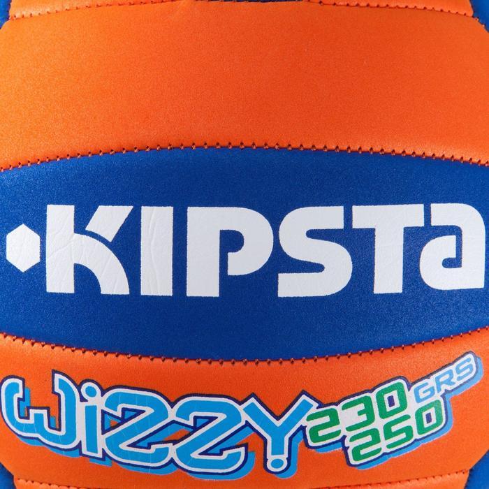 Ballon de volley-ball Wizzy 260-280g blanc et bleu à partir de 15 ans - 808281