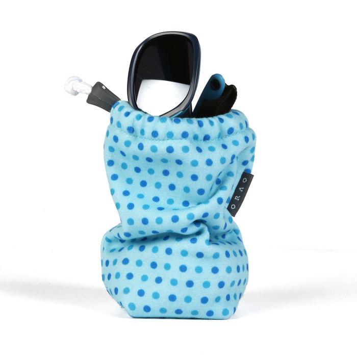 Etui en tissu pour lunettes de soleil bébé et enfant CASE 140 JR bleu