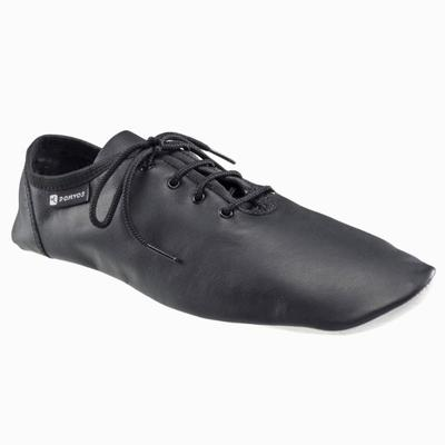 Leather Modern Dance Jazz Dancing Shoe - Black