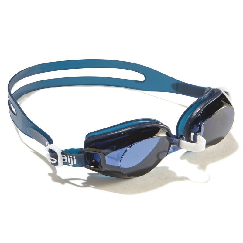 100 AMA Swimming Goggles, Size L Blue White